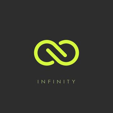 Infinity minimalistic vector logo
