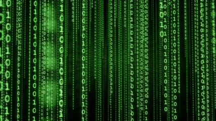 Green Binary Matrix Background