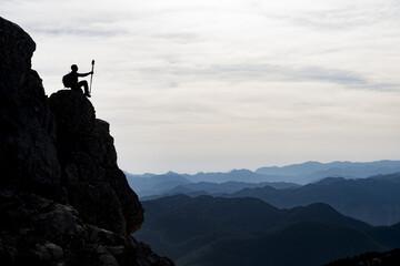 zirve başarısı sonrası doyumsuz sıradağ manzarası izlemek
