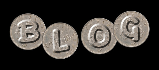 BLOG – Coins on black background