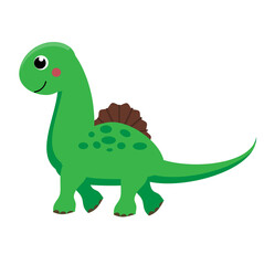 Cute dinosaur. Cartoon dino character. Vector illustration for kids