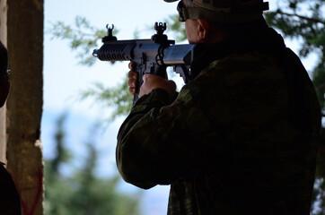 Soldier aim target airsoft rifle