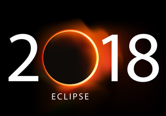 2018 - éclipse - soleil - solaire - calendrier - lune - présentation