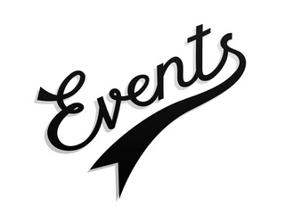 EVENTS hand lettering icon
