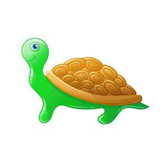 Cartoon turtle. Vector animal.