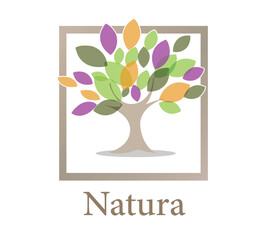 Natura Logo Illustration Design