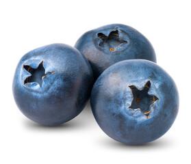 Blueberry, on white background