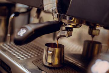 Making coffee barista