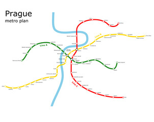 Prague subway plan