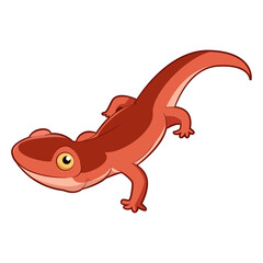 Cartoon smiling Newt