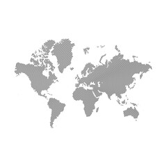 Abstract similar World Map with Lines