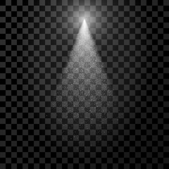 White transparent Spotlight with Particles