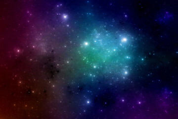 Deep space stars illustration, fantasy universe