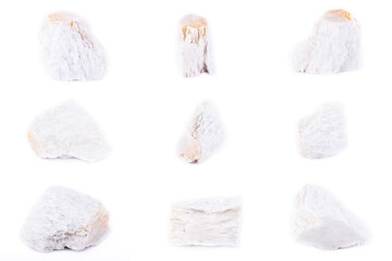 Collection of stone mineral Talc