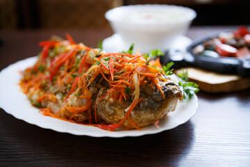 Exotic Asian cuisine.Traditional Vietnamese food menu