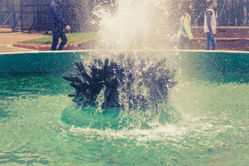 Beautiful fountain in the Plaza de Mayo, Buenos Aires, Argentina.