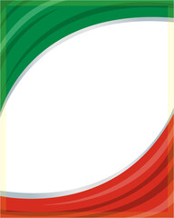 Italy flag wave Patriotic frame with empty space for your text.