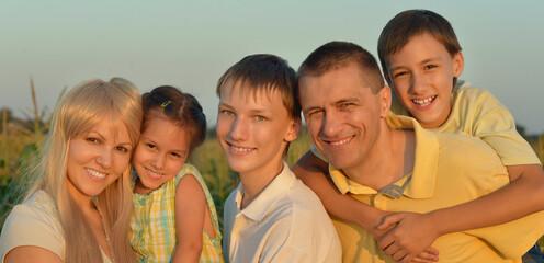 Portrait of big happy family