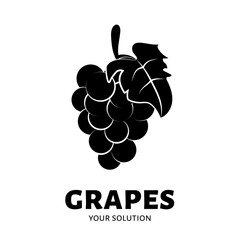 Grapes logo. Brand's logo in the form of grapes.
