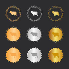 Kuh - Bronze, Silber, Gold Medaillen