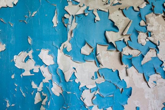 blue peeling paint texture