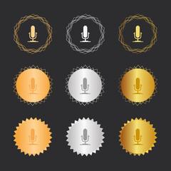 Mikrofon - Bronze, Silber, Gold Medaillen