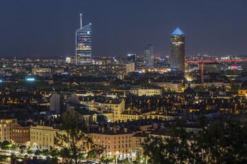 Lyon la nuit - Rhône.