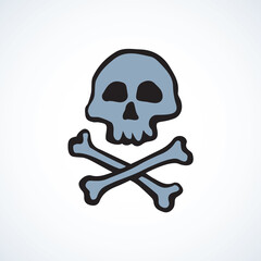 Skull and Bones. Vector drawing