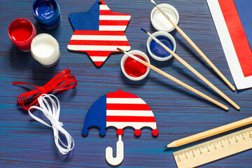 DIY. Painting souvenirs and gifts for Independence Day on July 4. Step 3