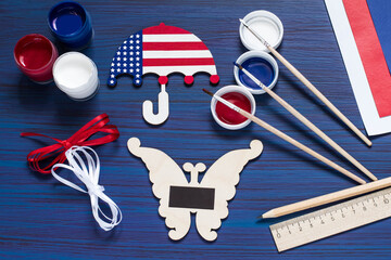 DIY. Painting souvenirs and gifts for Independence Day on July 4. Step 5
