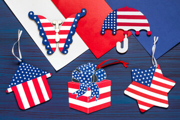 DIY. Painting souvenirs and gifts for Independence Day on July 4. Step 7
