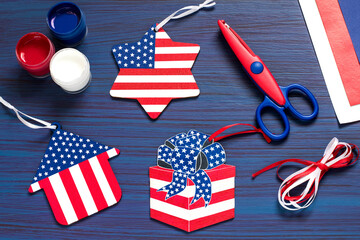 DIY. Painting souvenirs and gifts for Independence Day on July 4. Step 6
