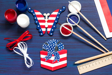 DIY. Painting souvenirs and gifts for Independence Day on July 4. Step 4