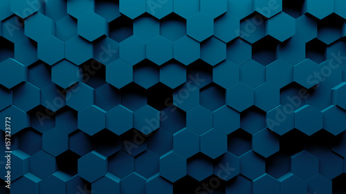 Abstract Hexagon Geometry Background 3d Render Of Simple