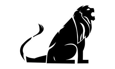 Silhouette lion logo