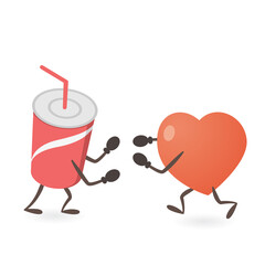 Heart and Soda Fighting