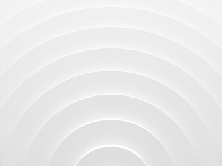 White rings abstract pattern for web template background, brochure cover or app. Material style. Geometric 3D illustration.