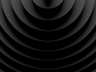 Black circles abstract background. 3D illustration. This image works good for text and website background, print and mobile application.