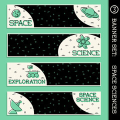 Space Science banner set