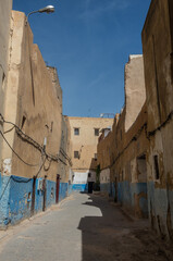 View of street in ancient Fez El Bali Medina (Old Town) Fez, Morocco