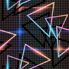 retrofuturistic abstract seamless background