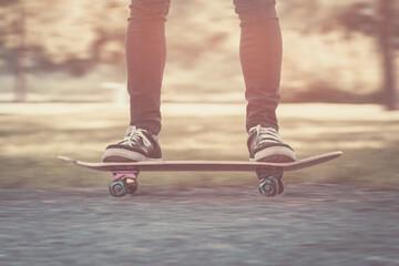 Skateboarder motion blur