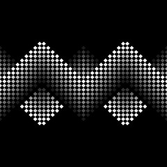 Seamless vector black and white monochrome pattern of small squares