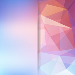 Abstract polygonal vector background. Colorful geometric vector illustration. Creative design template. Abstract vector background for use in design. Pastel pink, blue, orange colors.
