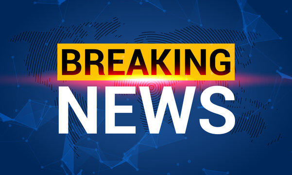 Breaking news. World news with map backgorund. Breaking news modern concept. TV news design