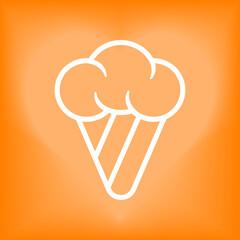 Ice cream cone outline icon