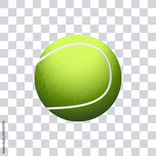 Tennis Ball Vector Illustration Isolated On Transparent Background