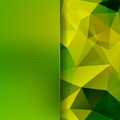 Abstract polygonal vector background. green geometric vector illustration. Creative design template. Abstract vector background for use in design