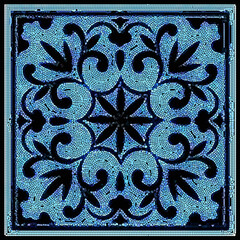 Vector  Ceramic Patterned Mosaic Smalt Majolica Illustration