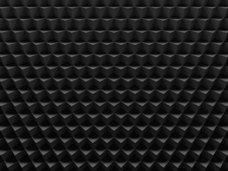 Black cubes. This image works good for text and website backgrounds, print or app. 3D illustration.